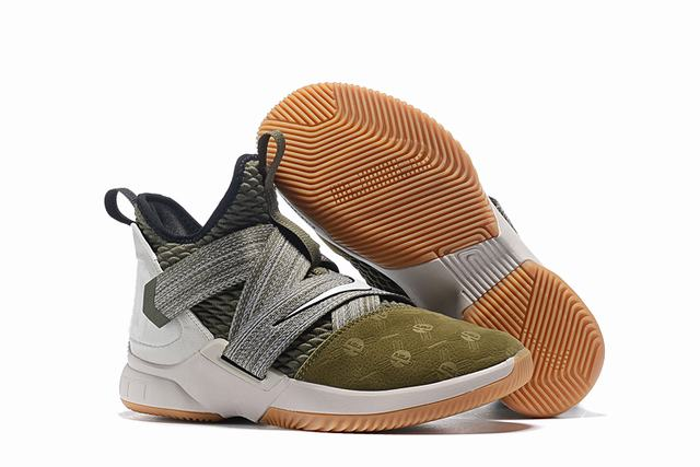 Nike Lebron James Soldier 12 Shoes Army Green