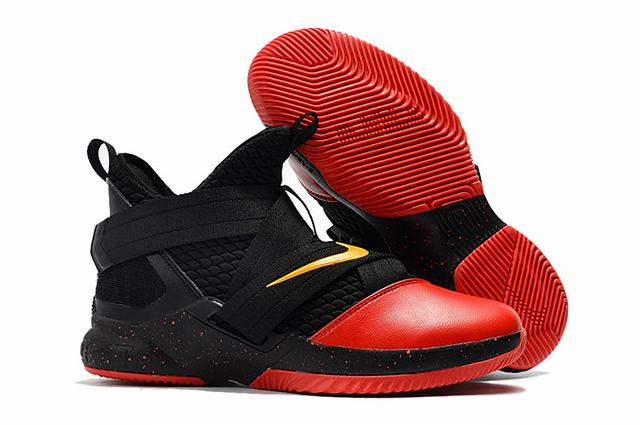Nike Lebron James Soldier 12 Shoes Black Red