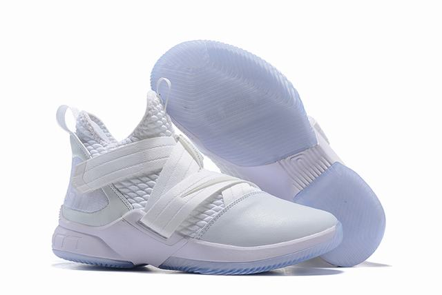 Nike Lebron James Soldier 12 Shoes Pure White