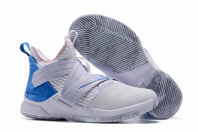 Nike Lebron James Soldier 12 Shoes White Blue