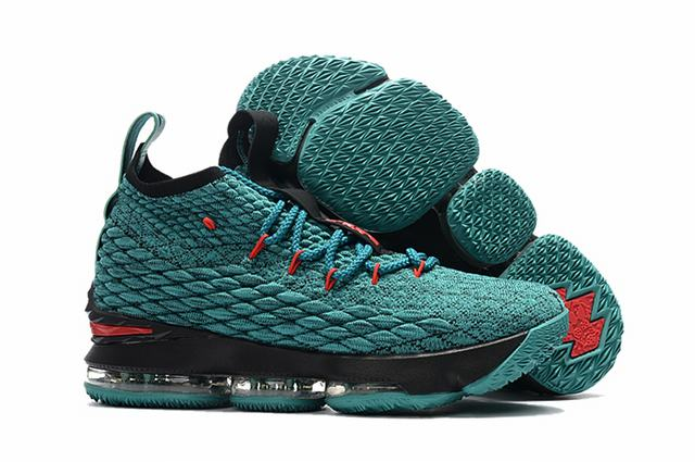Nike Lebron James 15 Air Cushion Shoes Aqua Black Red
