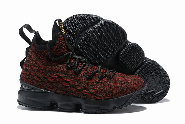 Nike Lebron James 15 Air Cushion Shoes BHM Red Black