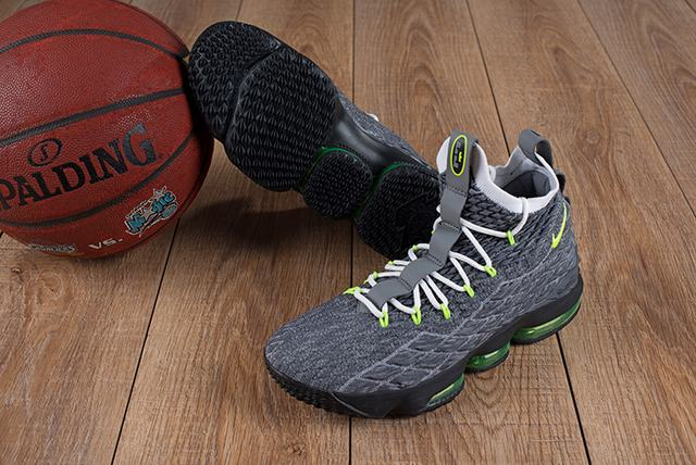 Nike Lebron James 15 Air Cushion Shoes Grey Green