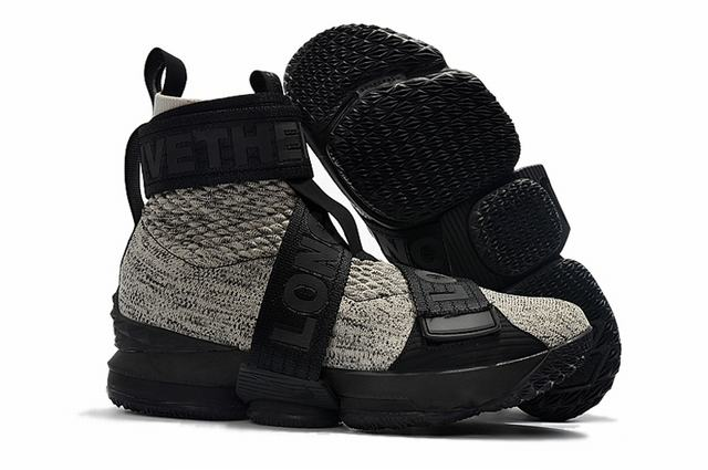 Nike Lebron James 15 Air Cushion Shoes High Black