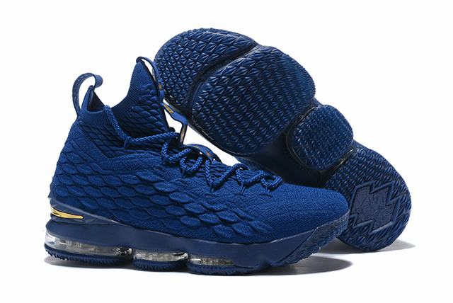 Nike Lebron James 15 Air Cushion Shoes Philippines Blue Gold