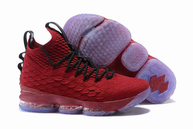 Nike Lebron James 15 Air Cushion Shoes Red Black Red