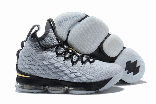 Nike Lebron James 15 Air Cushion Shoes Silver Black