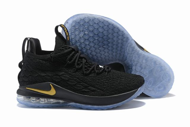 Nike Lebron James 15 Air Cushion Shoes Low Black Blue Gold