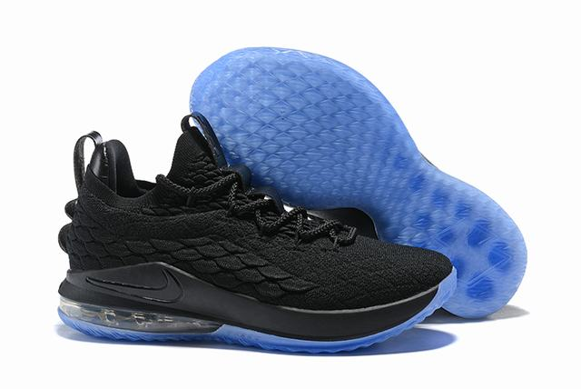 Nike Lebron James 15 Air Cushion Shoes Low Black Blue