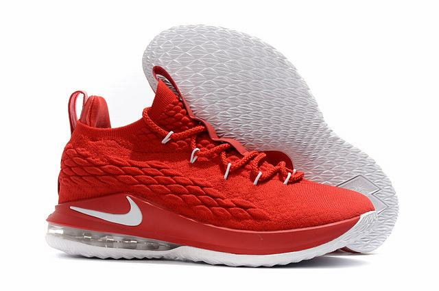 Nike Lebron James 15 Air Cushion Shoes Low China Red White