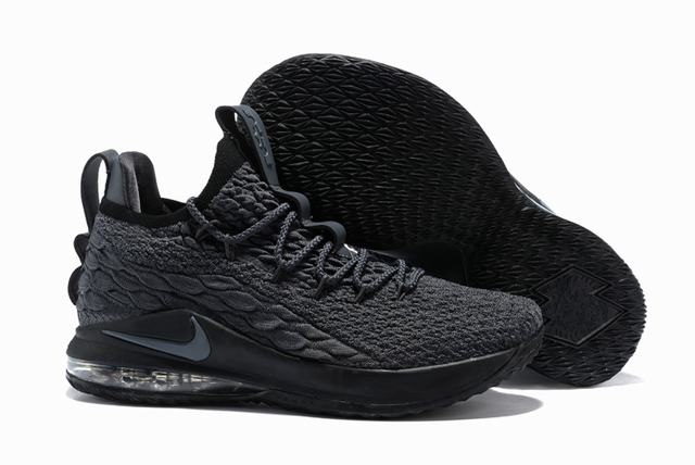 Nike Lebron James 15 Air Cushion Shoes Low Dark Grey Black