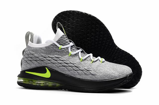 Nike Lebron James 15 Air Cushion Shoes Low Neon Grey Black Green