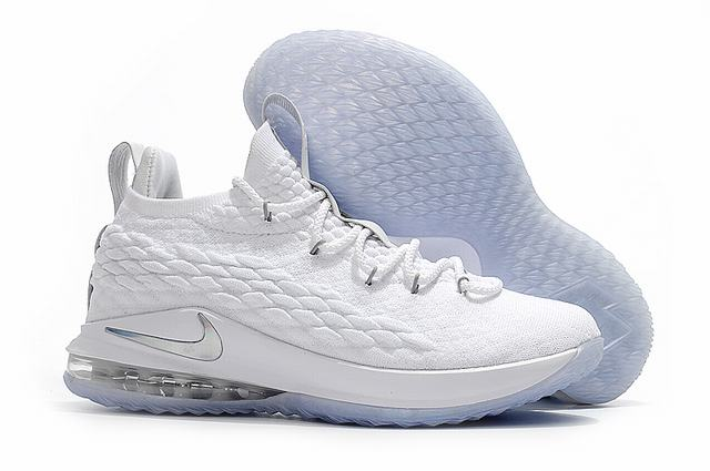 Nike Lebron James 15 Air Cushion Shoes Low White Silver