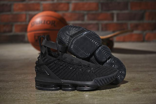 Nike Lebron James 16 HFR Air Cushion Relief Shoes All Black