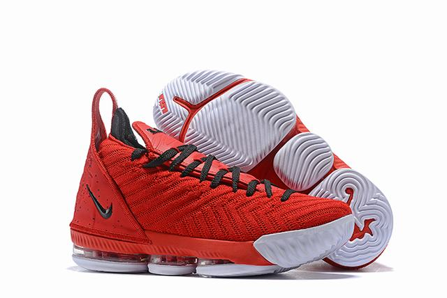 Nike Lebron James 16 Air Cushion Shoes Red Black