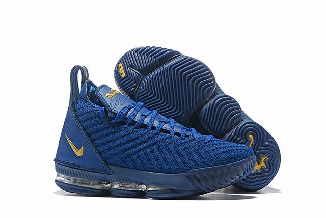 Nike Lebron James 16 Air Cushion Shoes Royal Blue Yellow