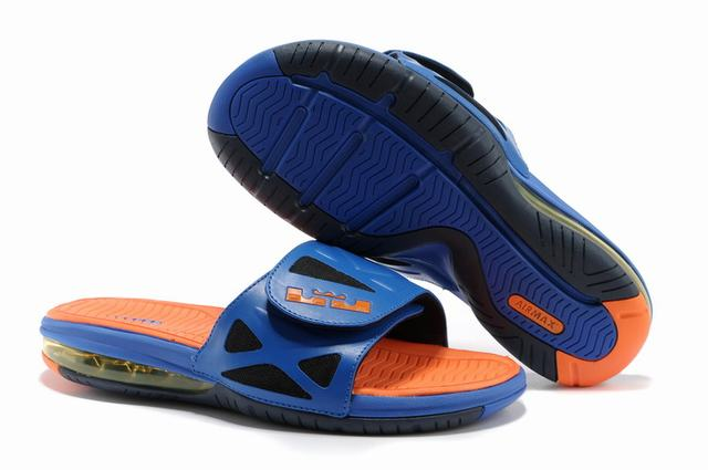 Nike Lebron James 2 Slide Elite Air Cushion Slippers Royal Blue Orange