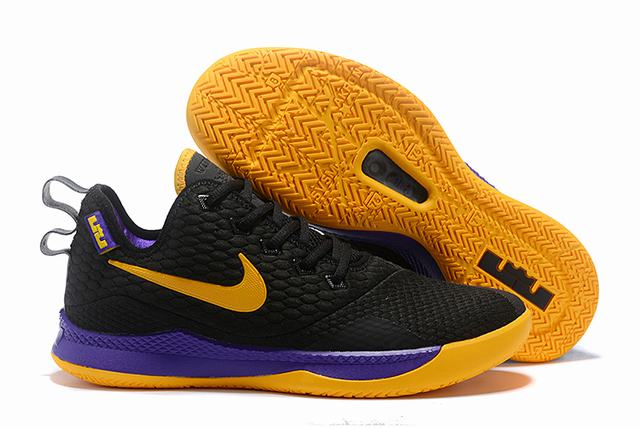 Nike Lebron James Witness 3 Shoes Black Purple Yellow