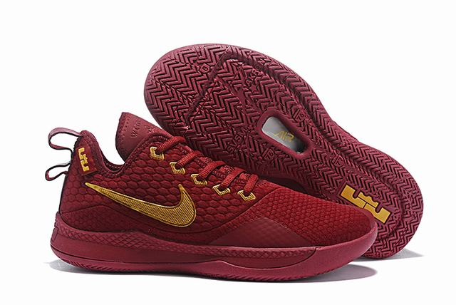 Nike Lebron James Witness 3 Shoes Wine Gold