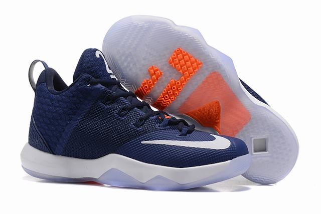 Nike Lebron James Ambassador 9 Shoes Dark Blue White