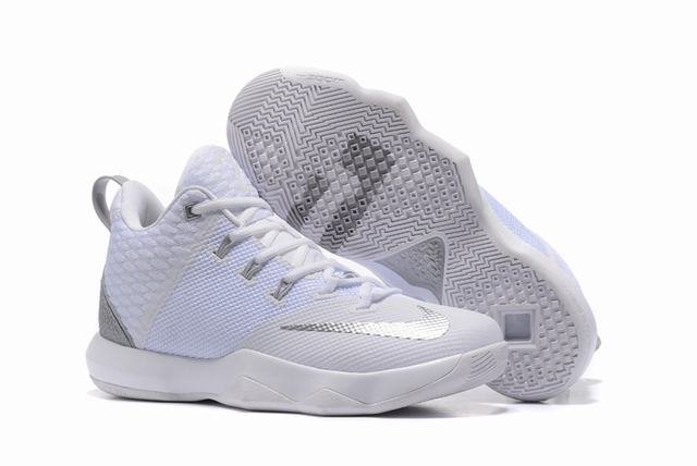 Nike Lebron James Ambassador 9 Shoes White Silver
