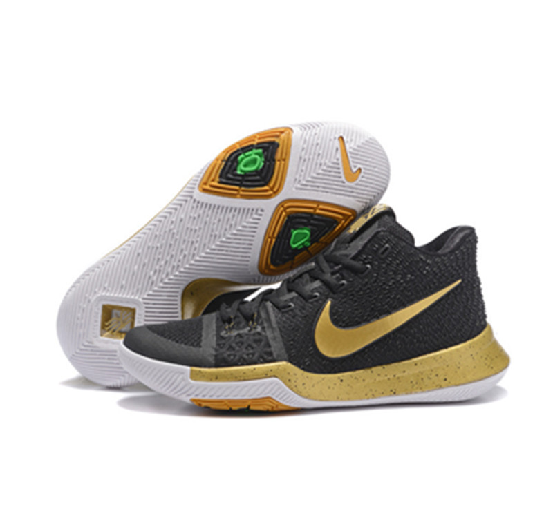 Nike Kyrie Irving Shoes 3 black gold