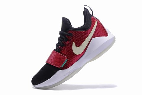 Nike Paul George Shoes PG 1 Gray Red White Fluorescence
