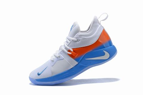 Nike PG 2 White to orange to blue
