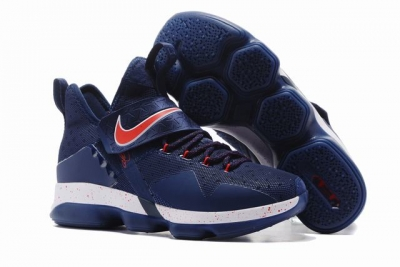Nike Lebron James 14 Shoes Dark Blue Red