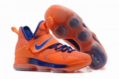 Nike Lebron James 14 Shoes Orange Royal Blue