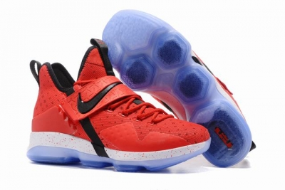 Nike Lebron James 14 Shoes Red Black
