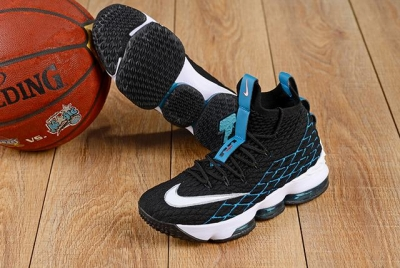 Nike Lebron James 15 Air Cushion Shoes Black Blue White