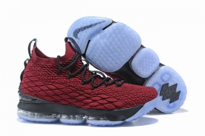 Nike Lebron James 15 Air Cushion Shoes Wine Red Black