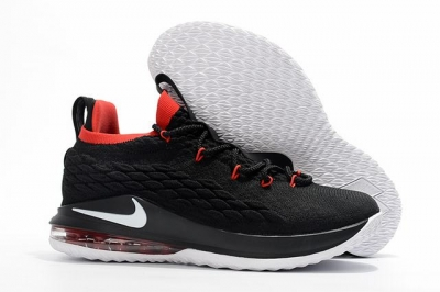 Nike Lebron James 15 Air Cushion Shoes Low Neon Black Red White