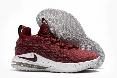 Nike Lebron James 15 Air Cushion Shoes Low Wine Red White