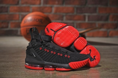 Nike Lebron James 16  HFR Air Cushion Relief Shoes Black Red