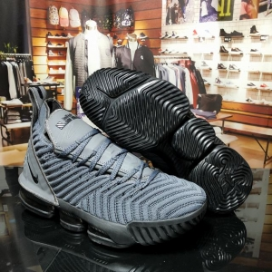 Nike Lebron James 16 Air Cushion Shoes Dark Grey Black