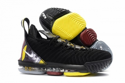 Nike Lebron James 16 Air Cushion Shoes Lebron Black Yellow Red White