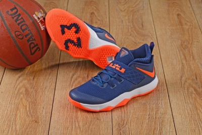 Nike Lebron James Ambassador 10 Shoes Dark Blue Orange