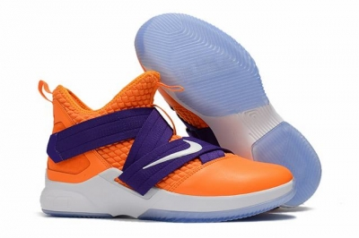 Nike Lebron James Soldier 12 Shoes Orange Purple