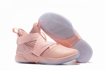 Nike Lebron James Soldier 12 Shoes Pink