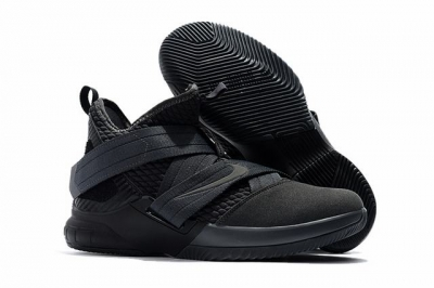 Nike Lebron James Soldier 12 Shoes Pure Black