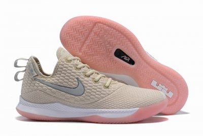 Nike Lebron James Witness 3 Shoes Creamy White Pink