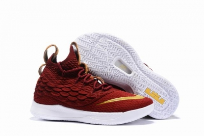 Nike Lebron James Witness 3 Shoes High Wine Red Gold