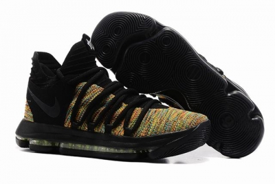 Nike KD 10 Shoes Rainbow Black