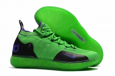 Nike KD 11 Shoes Green Purple