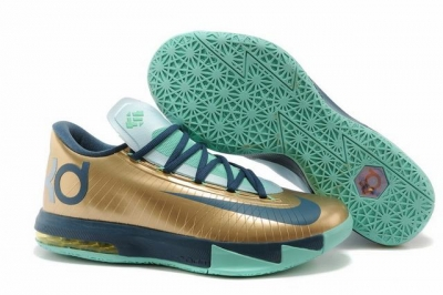Nike KD 6 Shoes Luxury Gold