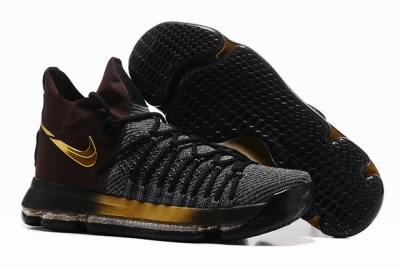Nike KD 9 Shoes Black Gold