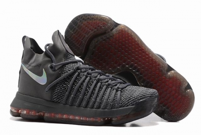 Nike KD 9 Shoes Black Silver Red