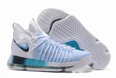 Nike KD 9 Shoes White Blue